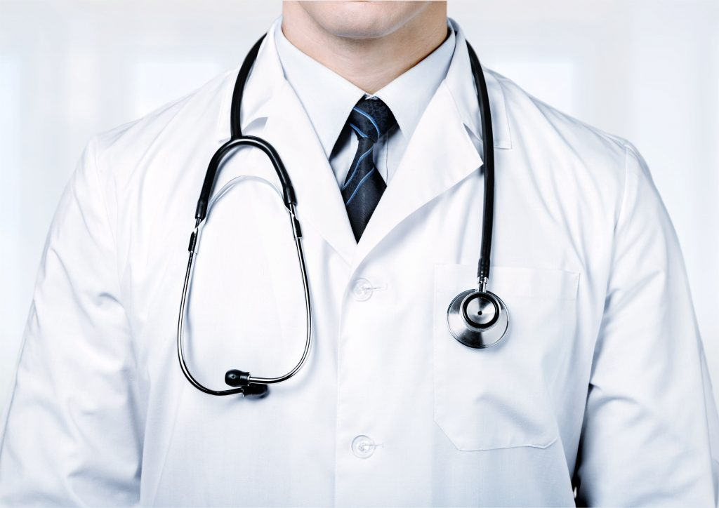 medical student white coat